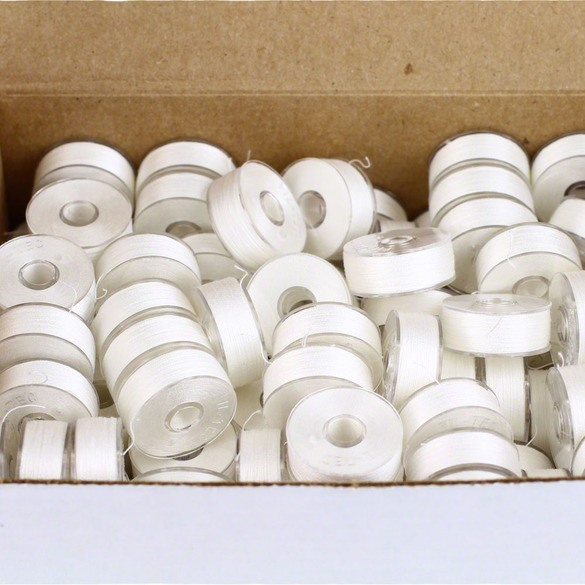 Prewound Bobbins, Style L, White - 144pk