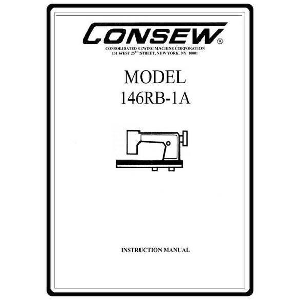 Instruction Manual, Consew 146RB-1A