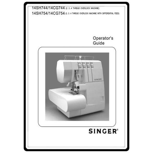Instruction Manual, Singer 14CG754