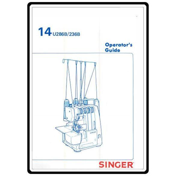 Instruction Manual, Singer 14U286