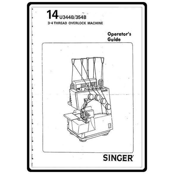 Instruction Manual, Singer 14U354B