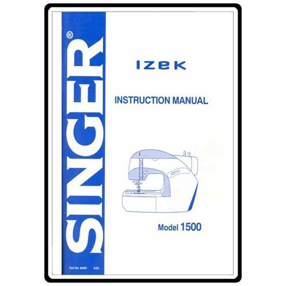 Instruction Manual, Singer 1500 Izek