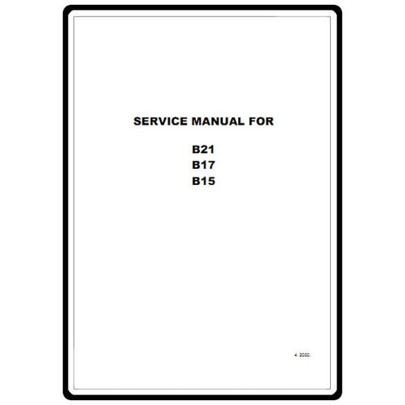 Service Manual, Babylock B15