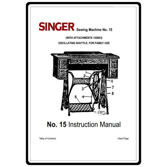 Instruction Manual, Singer 15-30