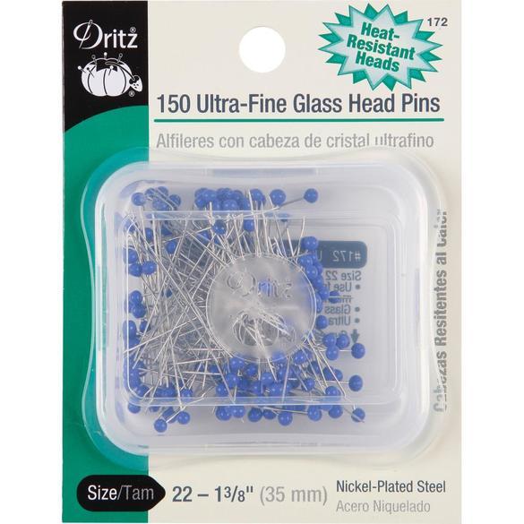 Ultra Fine Size 22 Glass Head Pins (150 CT), Dritz #172