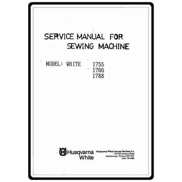 Service Manual, White 1766