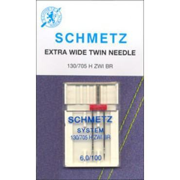 Schmetz Twin Needle/Larger Size (Size 6,0/100)