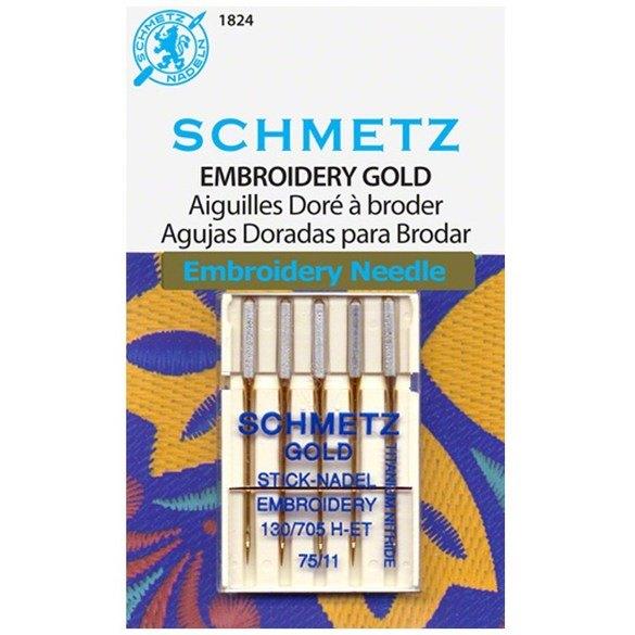 Titanium Embroidery Needles (5pk), Schmetz
