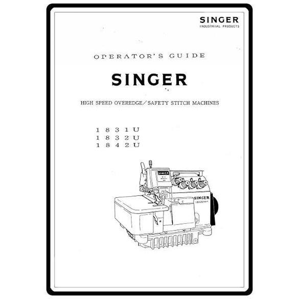 Instruction Manual, Singer 1831U