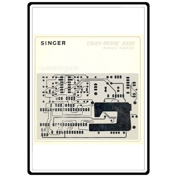 Instruction Manual, Singer 2000 Touch-Tronic