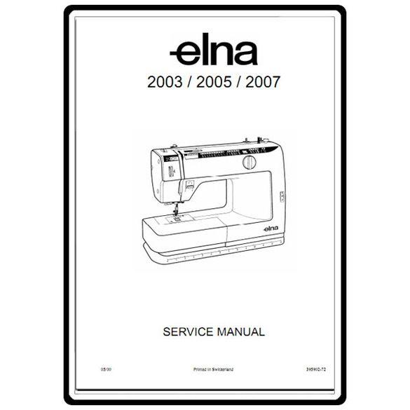 Service Manual, Elna 2005