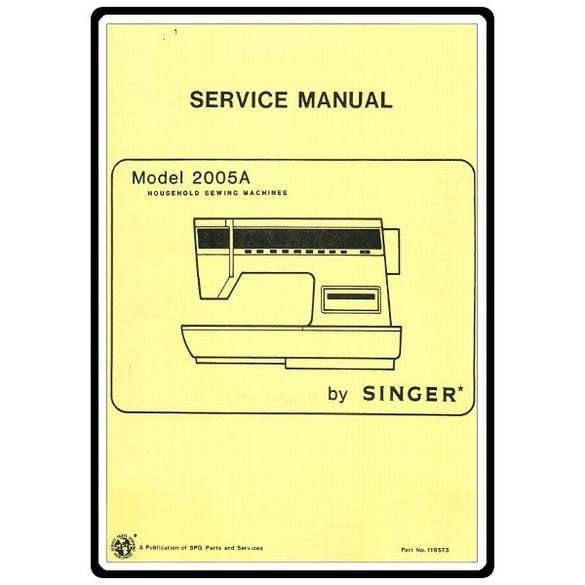 Service Manual, Singer 2005(A)