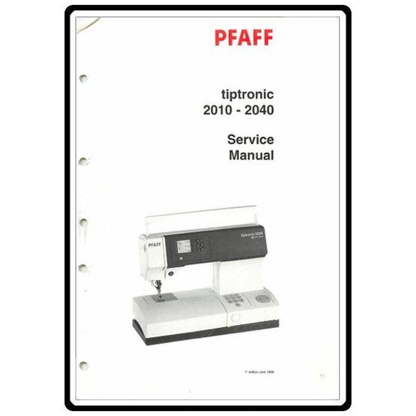 Service Manual, Pfaff 2010