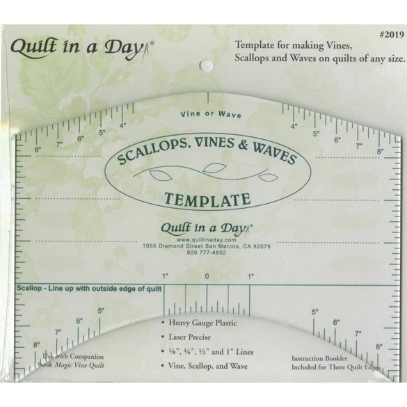 Scallops, Vines, and Waves Template - Quilt in a Day