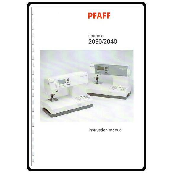 Service Manual, Pfaff 2040