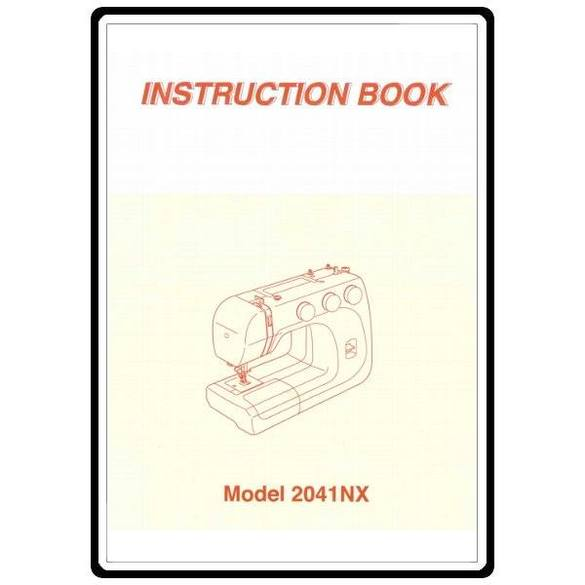 Instruction Manual, Brother 2041NX