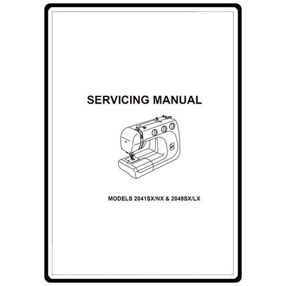 Service Manual, Janome 2049SX/LX