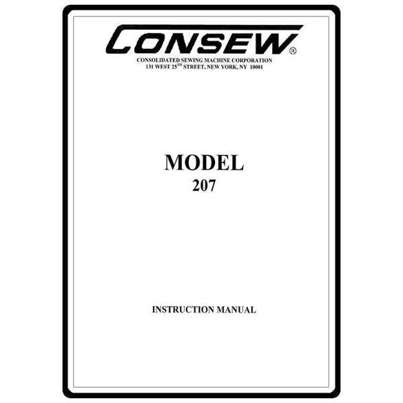 Instruction Manual, Consew 207