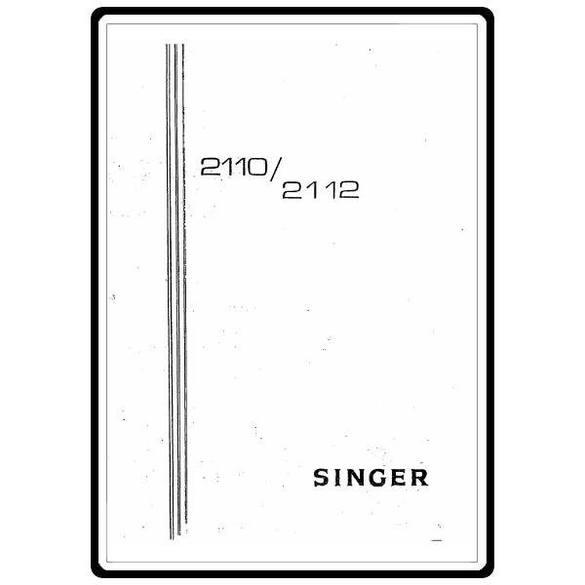 Instruction Manual, Singer 2112