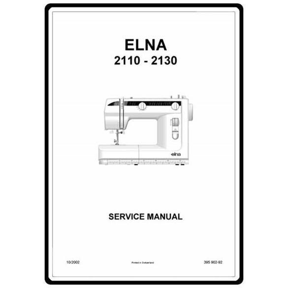 Service Manual, Elna 2115
