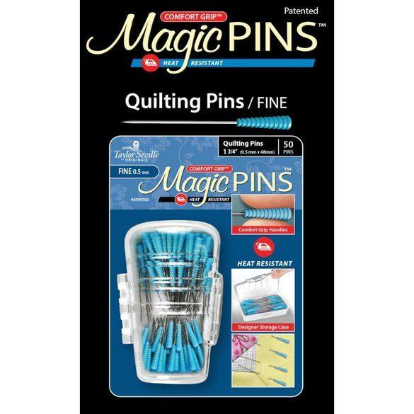 Comfort Grip Magic Pins - Fine Tip Quilting Pins