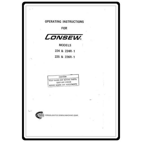 Instruction Manual, Consew 226R-1