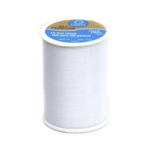 Dual Duty General Purpose Thread, White, Coats & Clark 400yd