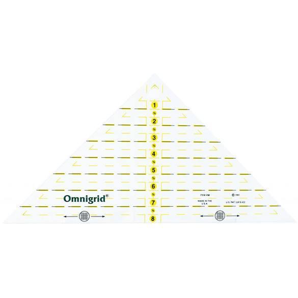 Omnigrid Triangle Ruler 8in