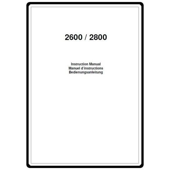 Instruction Manual, Elna 2600