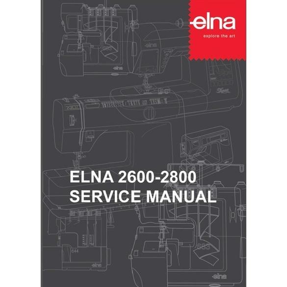 Service Manual, Elna 2800