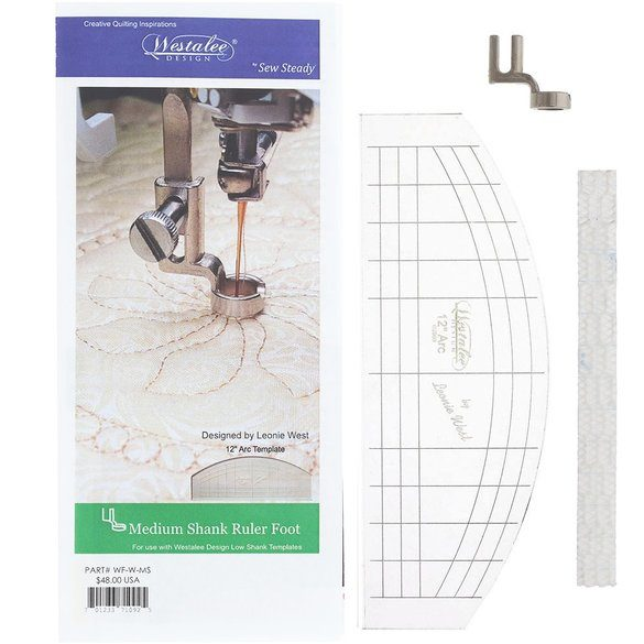 Ruler Foot w/ 3mm Arc Template, Medium Shank