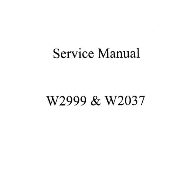 Service Manual, White 2999