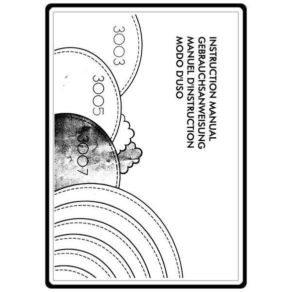 Instruction Manual, Elna 3005