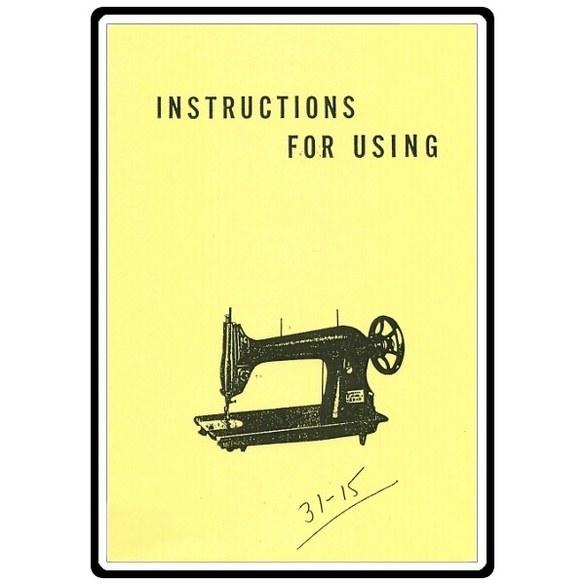 Instruction Manual, Singer 31-20