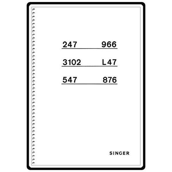 Instruction Manual, Singer 3104
