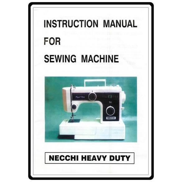Instruction Manual, Necchi 3204FB