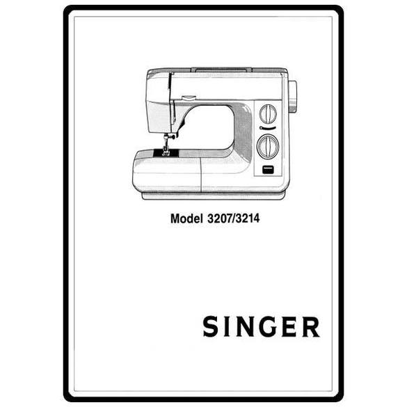 Instruction Manual, Singer 3207