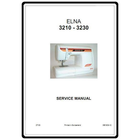 Service Manual, Elna 3210
