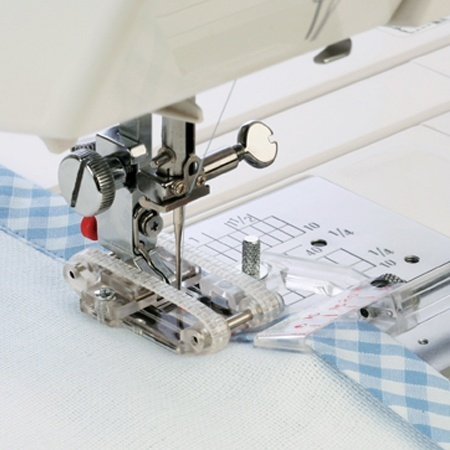 1 X QUILTING 7MM EVEN FEED WALKING FOOTJANOME SEWING MACHINES LOW SHANK