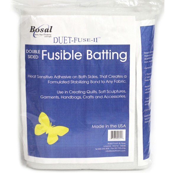 Bosal Duet II Double-Sided Fusible Batting - 25yds