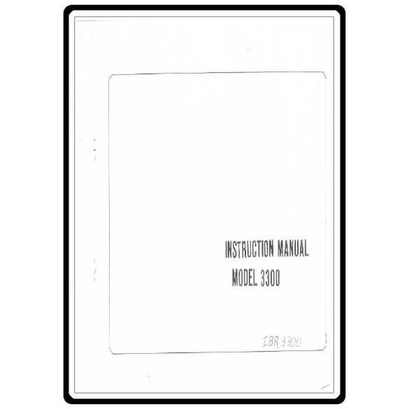 Instruction Manual, Riccar 3300