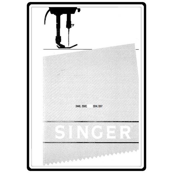 Instruction Manual, Singer 2503