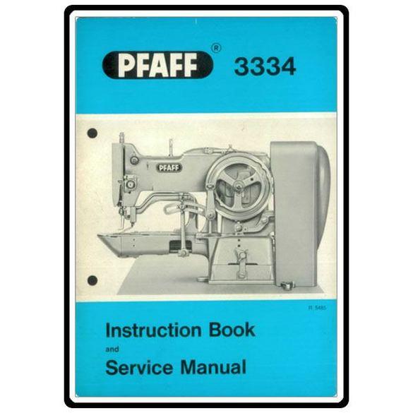 Service Manual, Pfaff 3334
