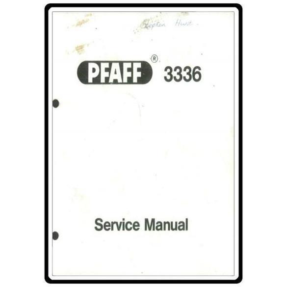 Service Manual, Pfaff 3336