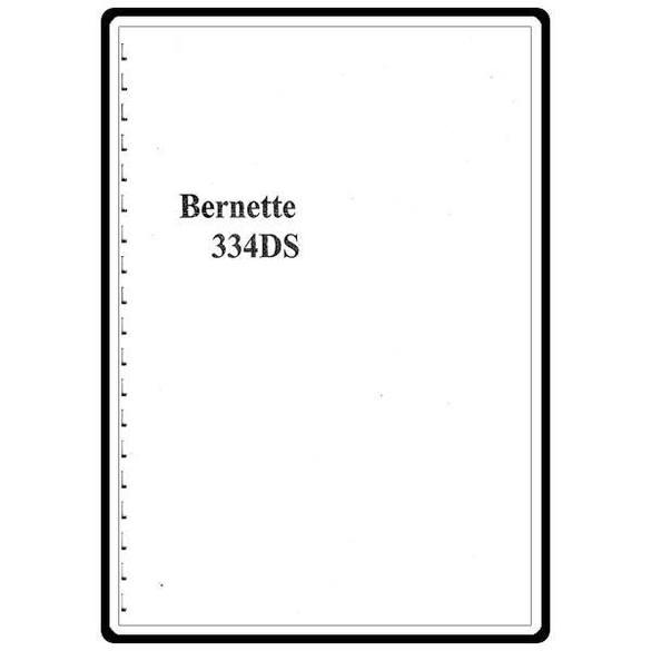 Instruction Manual, Bernette 334DS