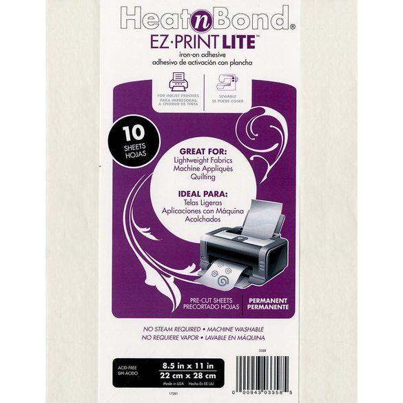 Heat N Bond EZ Print Fusible Sheets (10pk), 8-1/2in by 11in