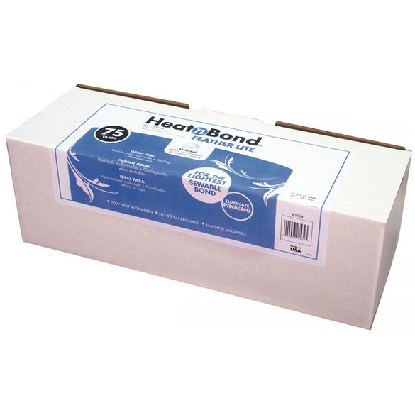 Heat N Bond Feather Lite, Fusible Interfacing - 17in by 75yds