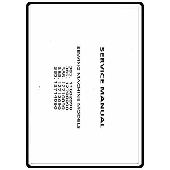 Service Manual, Kenmore 385.12710090