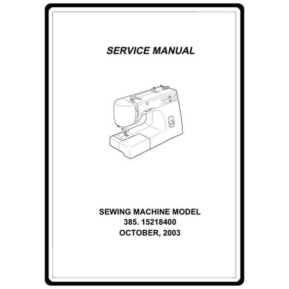 Service Manual, Kenmore 385.15616500