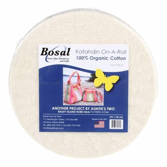Katahdin 100% Cotton Batting Roll - 2-1/2in x 25 yds
